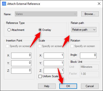 Xref-insert-settings